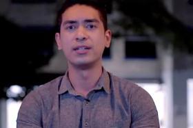 RALLY: Divian Nair calls for Singaporeans to unite.