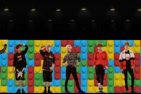 VIRTUAL: Scenes from hologram performance of  Got7 at K-live Sentosa.