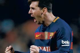 MILESTONE: Lionel Messi scored his 300th La Liga goal in midweek.