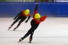 LOOKING AHEAD: Speed skater Lucas Ng (above) will face fierce competition from Malaysian and Thai skaters at next year's SEA Games, where the winter sport is included for the first time.