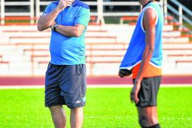 STAY COOL: To ensure his players are not overworked before today's game, Balestier Khalsa coach Marko Kraljevic (above) limited yesterday's training to just one and a half hours.