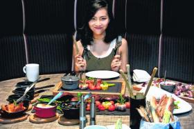 Spanish Iberico Pork Chop Tasmanian Salmon Fillet FOODIE: Sonia Chew hosts TV series You Think You Know? Food In Singapore. Ash & Elm Platter
