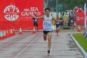 BLOW FOR SOH: Soh Rui Yong (above) may not be able to defend his marathon title at next year's SEA Games in Malaysia.