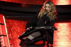 Madonna performs during her Rebel Heart Tour concert at Studio City in Macau, China