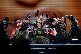Madonna at the National Stadium.