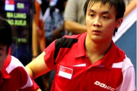 Singapore's Pang Xue Jie scored a huge upset earlier in the day with a win over Japan's World No. 14 Koki Niwa, could not do the same against his Portuguese opponent Marcos Freitas.