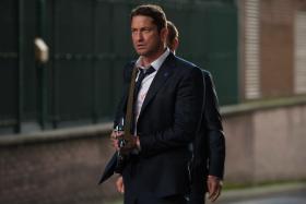 Gerard Butler as secret agent Mike Banning in London Has Fallen.