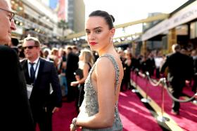 British actress Daisy Ridley attends the 88th Annual Academy Awards on Feb 28, 2016