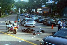 FATAL: A motorcyclist died after a fatal accident at the junction of Hougang Avenue 8 and Hougang Avenue 2 yesterday.