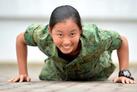 TOUGH: Natasha Lum scored well for her A levels and said she enjoys her 'unconventional' military career.