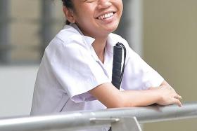 """""""I can't imagine a life without fulfilling my dream, or without trying at least."""" — Miss Charmaine Tan (above), who hopes to be a literature teacher"""