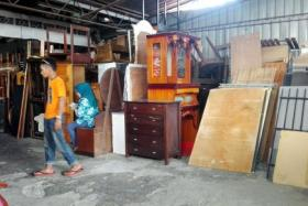 Old furniture from Singapore being sold at a second-hand shop in Kota Baru.