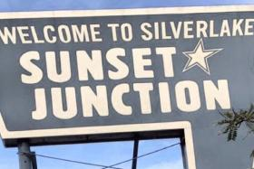 The sign at Sunset Junction Coffee has become an icon in the Silver Lake area