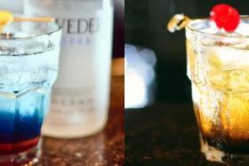 Clark Cocktail (left) and Arkem Asylum cocktail from Little Saigon.