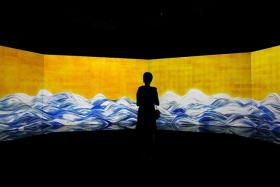 SENSE OF WONDER: Installations at the exhibition include the 100 Years Sea Animation Diorama (above), Create! Hopscotch for Geniuses and Crystal Universe.