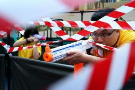 VICTORY: Linn Min Htoo was the winner at last year's Nerf competition at TNP Readers' Carnival (above).
