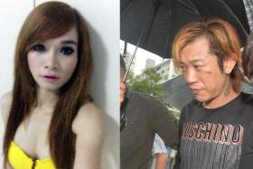 Jackson Lim Hou Peng (right) was sentenced to nine and a half years' jail and three strokes of the cane for killing his Vietnamese girlfriend Tran Cam Ny at his Ang Mo Kio flat during a drug-induced rage in 2014.
