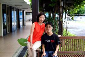 When he called me for help on the day his father had died, I thought that if this boy can survive these tragedies in his life, he can survive everything else that comes his way.  - Ms Christina Tang-Lien (left) on Mr Lim Bo Zhi