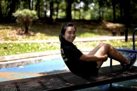 """""""They felt that those in military have to be brave and garang (Malay for fierce) and that was the complete opposite of who I am."""" - Miss Stephanie Tan, on how her parents were initially against her volunteering"""