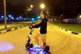 SUDDEN: Mr Sam Koh ( above) was riding with two friends on a popular cycling route from East Coast Park to Marina Bay Sands on early Saturday morning when he fell.