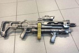 A 21-year-old man was arrested for causing public alarm with a realistic-looking toy gun.