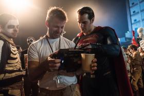 SUPERFRIENDS: Director Zack Snyder with his stars Henry Cavill (above) and Ben Affleck.
