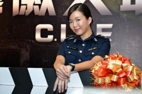 BACK IN UNIFORM: In the fourth season of C.L.I.F., Rui En reprises her role as CID officer Huang Zhijie.