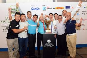 Team Boustead, the winner of BT Corporate Golf League 2015.