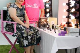 SUPPORT: Entrepreneur Douglas Gan with his mother, Madam Mary Jane Tan.