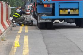 MISADVENTURE: Mr Chan Kuan Choon, 81, collided with a prime mover last Oct 3 while on his way to meet his friends in Chinatown.