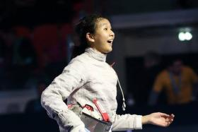 TREMENDOUS PROGRESS: This year's gold winner Lau Ywen (above) finished in 25th spot at last year's Cadet & Junior World Fencing Championships.