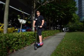 ALLOWED: Apart from electric scooters like this, bicycles, kick-scooters, electric unicycles and hoverboards will also be allowed on pavements.