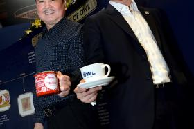 FAMILY TIES: Mr Richmond Te joined the family business in 2010 as the project manager for Owl International. His father (above, left), Mr Ronald Te, co-founded Super Group, which acquired Owl International in 2003.
