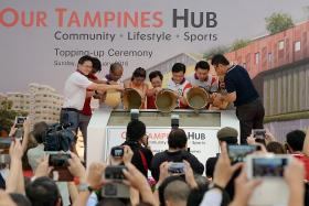 EXPENDITURE: Two projects — Tampines Hub (above) and Wisma Geylang Serai Civic Centre — contributed to a significant increase in PA's expenditure in 2015, said Labour chief and Deputy Chairman of the PA Chan Chun Sing.