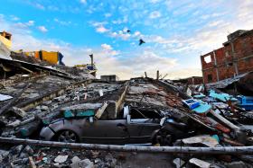 The destruction in Manta, Ecuador on April 17 after a 7.8-magnitude quake hit the country.