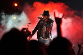 ROCK N' ROSE: Guns N' Roses' singer-frontman Axl Rose (above) will be replacing Brian Johnson for the rest of AC/DC's tour because of the latter's medical problem.
