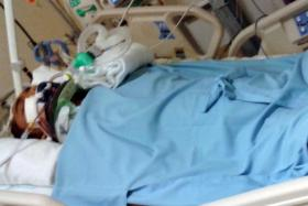 SEVERE: The accident landed Mr Sulhiddin in the ICU with a fractured neck, spine and ribcage, a broken jaw and ruptured lung.