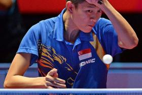 POTENTIAL LEADER: Men's national table tennis coach Liu Jiayi believes Clarence Chew (above) has impressive credentials.