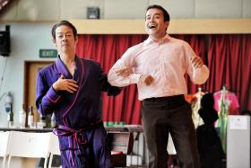FRIENDS: Ivan Heng (left), who worked closely with Tony Eusoff (right) in the musical La Cage Aux Folles, calls him a ''dear and trusted friend''.