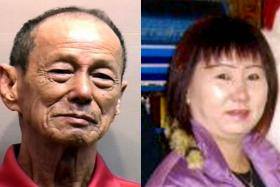 FEUD: Char Chin Fah (left )stabbed Madam Ong Guat Leng (right) after banging her head against the wall several times.