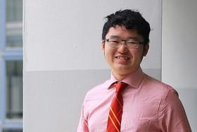 CONFIDENT: Mr Goi Jia Jian will be graduating with a Diploma in Information Technology, and hopes to become a software engineer.