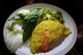 POPULAR: Banh xeo or Vietnamese savoury pancake.