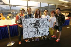 MAY THE 4TH BE WITH YOU: Mr Mas Shafreen (far left) of Band of Doodlers at last year's Star Wars Day.