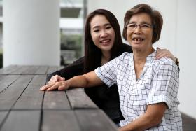 CLOSE: Miss Vivian Kek's grandmother Yap Ah Choo brought her up from the time she was six.