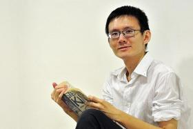 PAIN: Despite these challenges, Mr Lim rekindled his love for reading and writing and enrolled for Singapore Polytechnic's Diploma in Creative Writing for TV and New Media when he was 30 years old.