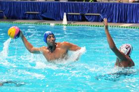 FIT: Singapore national water polo player Eugene Teo (above) signed up for the sport in Secondary 1.