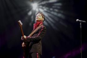 STAR: Prince performing at Abu Dhabi's Yas Arena in 2010.