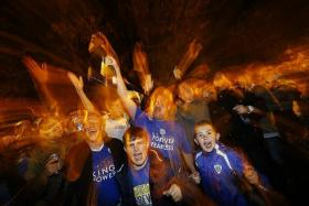 DREAMY: Leicester fans will savour this moment for the rest of their lives.