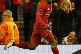 STAR MAN: Daniel Sturridge was involved in all three goals Liverpool scored against Villarreal yesterday morning (Singapore time).