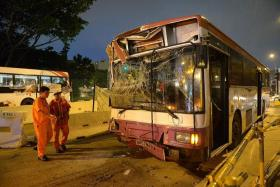 CRASH: Ahmad Jamalulail Abdul Rashid was driving an SBS Transit bus when it crashed into another bus, injuring 23 passengers on July 11, 2014.